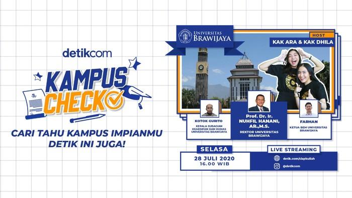 Kampus Check, Siap Kuliah, edisi Unibersitas Brawijaya, biasa disingkat UB atau Unibraw. (detikcom)