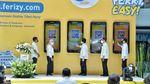 Momen 3 Menteri Resmikan Tiket Online Ferizy Ferry