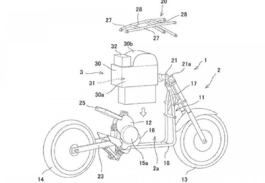 Paten motor listrik Kawasaki