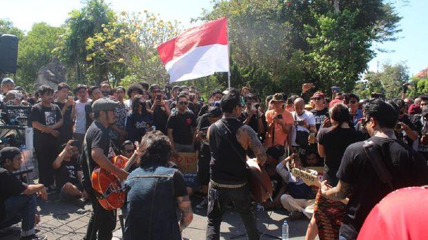 Aksi tolak tes Corona di Bali (Dok. Manusa)