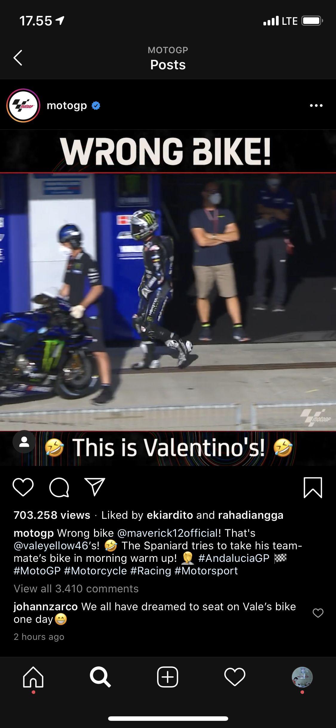 MotoGP rider Maverick Vinales of Spain celebrates his second place at the podium of the Spanish Motorcycle Grand Prix at the Angel Nieto racetrack in Jerez de la Frontera, Spain, Sunday, July 19, 2020. (AP Photo/David Clares)