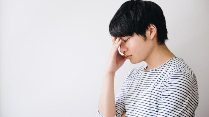 Depressed man image.
