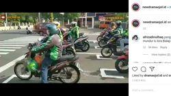 Parodi Start MotoGP ala Driver Ojol di Gunung Kidul