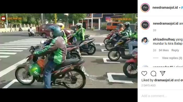 Balapan Ojol di Garis Berhenti Ala MotoGP