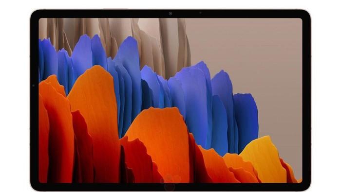 Bocoran tampilan dari Galaxy Tab S7 dan Galaxy Tab S7+.