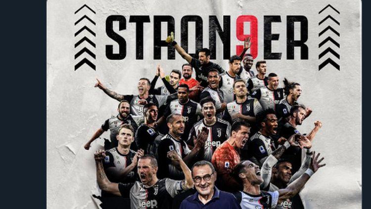 Foto: Juventus Juara Liga Italia, #Stron9er pun Bergaung