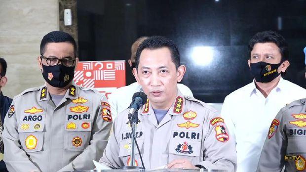Kabareskrim Komjen Listyo Sigit Prabowo dalam jumpa pers penetapan tersangka Brigjen Prasetijo Utomo (YouTube Tribrata TV Humas Polri)