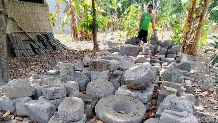 Temuan batu candi di situs Dompyongan, Desa Dompyongan, Kecamatan Jogonalan, Klaten