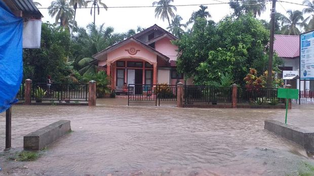 Banjir di Aceh Jaya (Foto:dok BPBA)