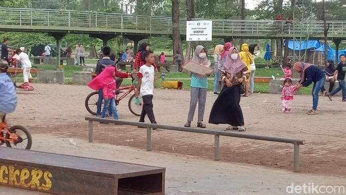 Dinkes Kota Bengkulu mengingatkan orang tua dan anak-anak untuk tidak dibawa ke tempat keraiaman (Hery Supandi/detikcom)