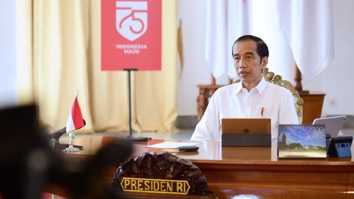 Presiden Joko Widodo saat memberi pengarahan di Istana, Jakarta, Selasa (28/7) / Foto: Muchlis - Biro Setpres