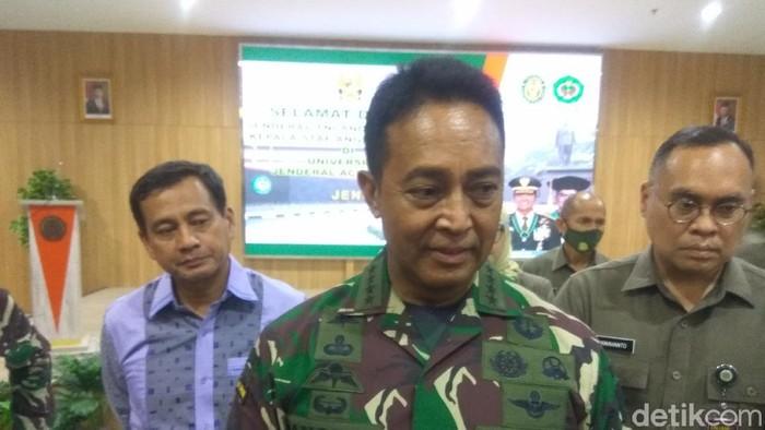 KSAD Jenderal TNI Andika Perkasa saat di Unjani Cimahi