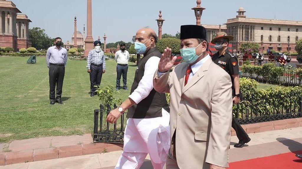 Kunker ke India, Prabowo Bahas Kerja Sama Pertahanan-Cadangan Logisitik