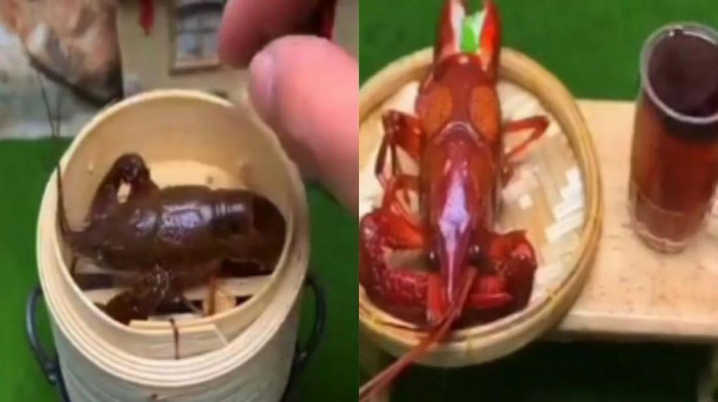 Serba Kecil, Masak Lobster Mini Pakai Miniatur Kompor!