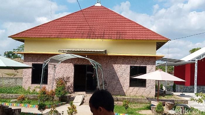 Rumah Situs Wonoboyo untuk mengabadikan penemuan puluhan kilogram emas di Klaten, Selasa (28/7/2020).