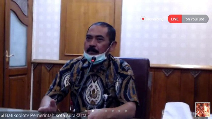 Tangkapan layar jumpa pers virtual Wali Kota Solo FX Hadi Rudyatmo