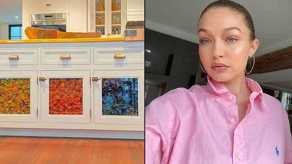 Pamer Interior Rumah, Lemari Dapur Gigi Hadid Dihiasi Pasta Warna-warni
