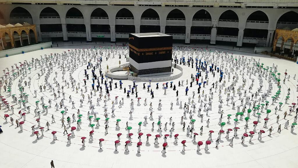 Labbaik Allahumma Labbaik, Video Tawaf dengan Physical Distancing