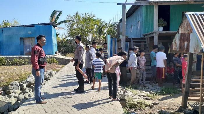 TKP Dg Sija (43) di Takalar membacok tetangganya, Padangan Dg Rowa (43) karena menduga istrinya diganggu (dok. Istimewa).