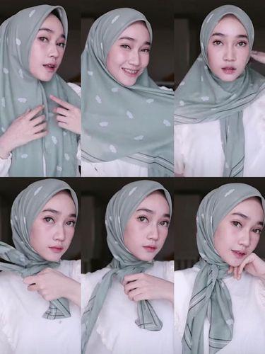 Tutorial Hijab Pashmina Untuk Hari Raya Idul Fitri
