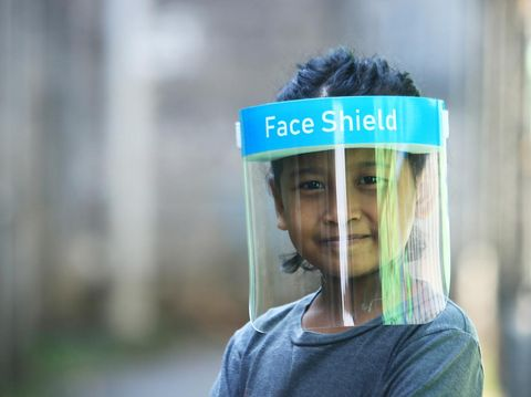New normal. The new normal order requires everyone to wear a mask or face shield when leaving the house.