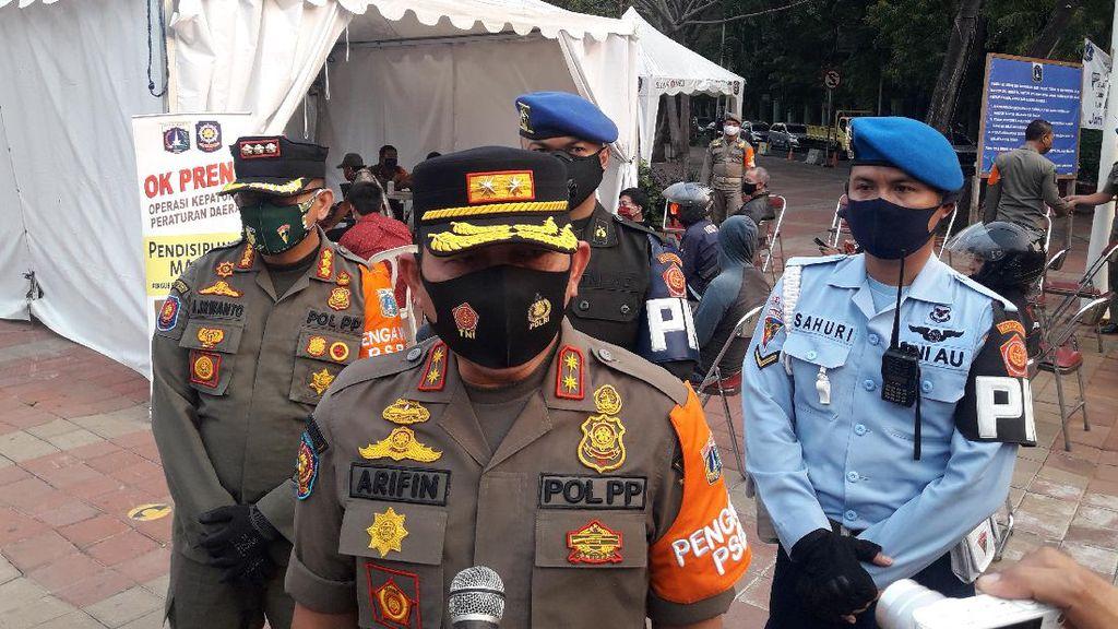 Denda Pelanggaran PSBB di Jakarta Capai Rp 2,4 M, Ini Rinciannya