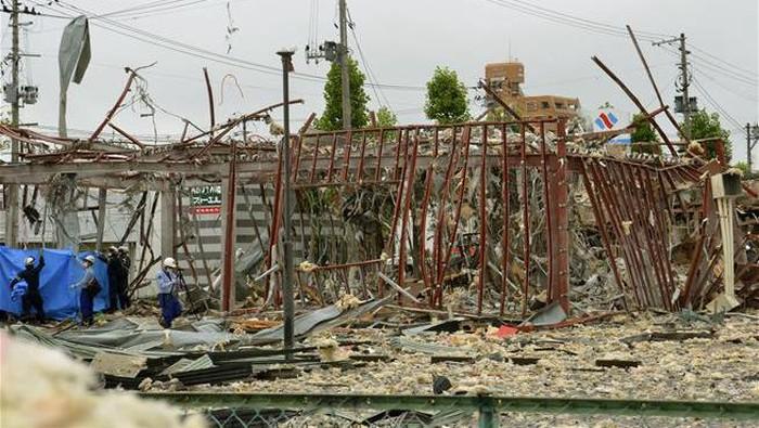 Ledakan di bagian kota Jepang utara (AP Photo)
