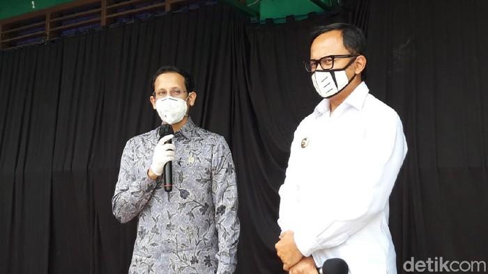 Mendikbud Nadiem dan Wali Kota Bima Arya di SMP Muhammadiyah Bogor