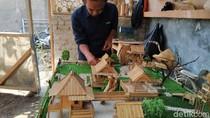 Melihat Uniknya Miniatur Perkampungan dan Rumah dari Bambu di Bandung Barat