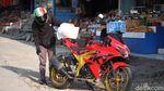 Pemudik Motor Mulai Ramai di Jalan Bandung-Cianjur Jelang Idul Adha