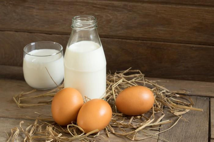 susu dan telur