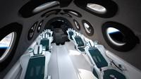 Juga terdapat 12 jendela-jendela bundar yang tersebar di kabin yang akan membawa mereka melihat pemandangan spektakuler bumi dari dalam pesawat di ketinggian 97 km (60 mil) di atas Bumi. (Virgin Galactic)