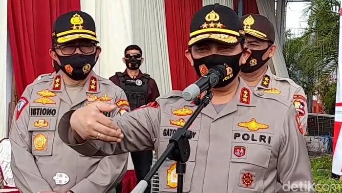 Wakapolri Komjen Gatot Eddy Pramono di Exit Tol Brebes Timur, Kamis (30/7/2020).