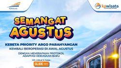 KA Wisata Bandung Kembali Beroperasi Bulan Agustus