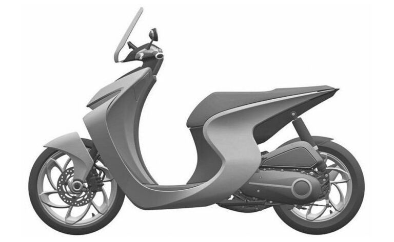 Gambar paten skutik baru Honda