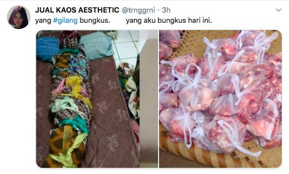 Gilang Bungkus Viral, Netizen Sindir Pakai Buras hingga Nasi Bungkus