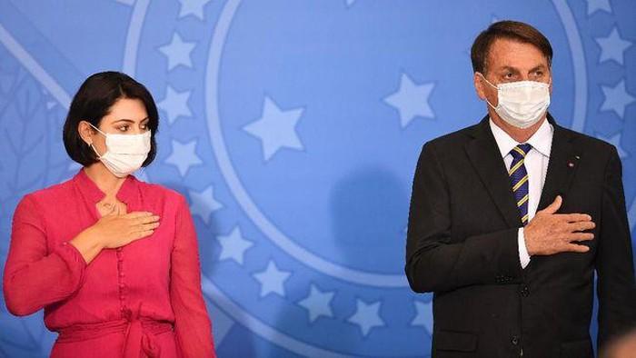 Istri presiden Brasil positif Corona