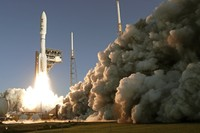This photo provided by NASA, a United Launch Alliance Atlas V rocket launches at Space Launch Complex 41 at the Cape Canaveral Air Force Station, Thursday, July 30, 2020, in Cape Canaveral, Fla. NASAs Perseverance blasted off  atop an Atlas V rocket Thursday morning. Its the first step in an ambitious project to bring the first Martian rock samples back to Earth to be analyzed for evidence of ancient life.  (Joel Kowsky/NASA via AP)