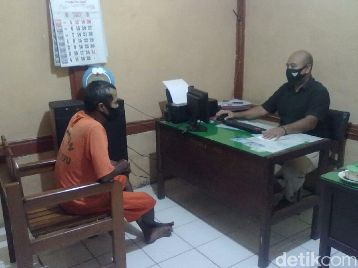 Pelaku penganiayaan dengan palu di Cepu, Jumat (31/7/2020).