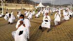 Potret Jemaah Haji Wukuf di Tengah Pandemi