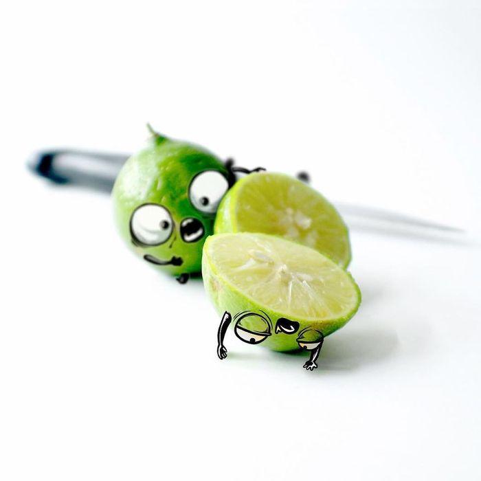 buah gambar doodle