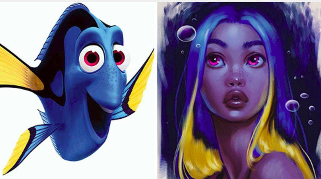 Cantik! Karakter Hewan Disney Berubah Wujud Jadi Wanita