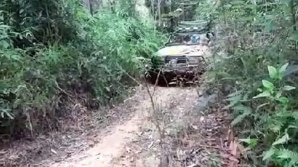 Kapolda Masuk Hutan Susuri Pinggiran Kalteng, Bagikan Beras ke Warga