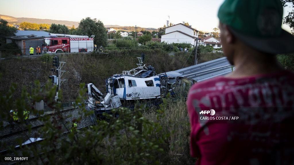 Kereta Cepat Tergelincir di Portugal, 2 Orang Tewas dan Puluhan Luka-luka