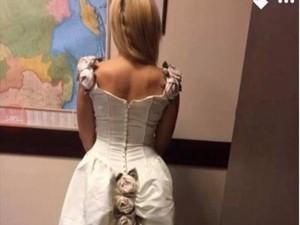 Wanita Diejek, Gaun Pengantinnya Disebut Mirip Buntut Kuda yang Dihias
