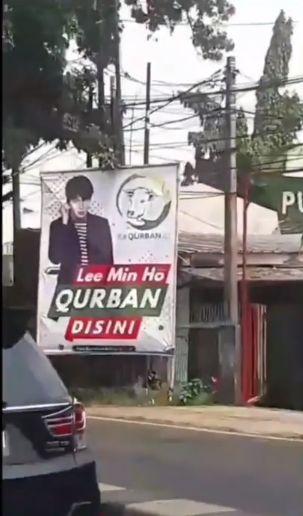 Penjual Hewan Qurban Pasang Spanduk 'Lee Min Ho Qurban di Sini'