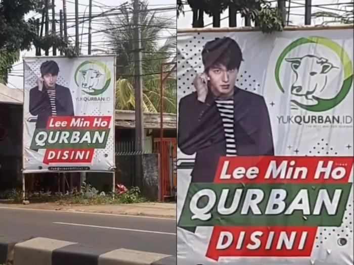 Penjual Hewan Qurban Pasang Spanduk Lee Min Ho Qurban di Sini