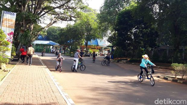 Suasana Ragunan Sabtu (1/8/2020) pagi