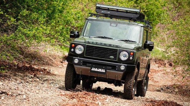 Body kit Land Rover Defender untuk Suzuki Jimny