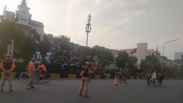 Kawasan Pesepeda di Jl Gajah Mada-Hayam Wuruk DKI Ramai Dikunjungi Warga